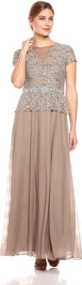 Cachet Women's Short Sleeve Lace Gown