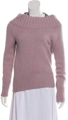 Burberry Cashmere Knit Sweater Purple Cashmere Knit Sweater