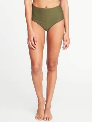 Old Navy Mid-Rise Textured-Stripe Bikini Bottoms for Women