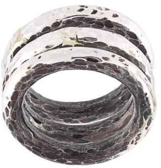 Henson hammered ring set