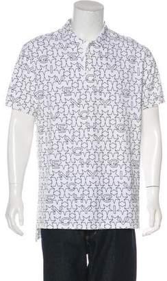 Givenchy 2016 Star & Logo Print Polo Shirt