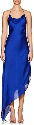 Juan Carlos Obando Women's Washed Satin Backless Gown - Royal Blue