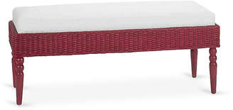 One Kings Lane Wicker Bench - Antiqued Red
