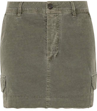 James Perse Stretch-cotton Mini Skirt - Gray