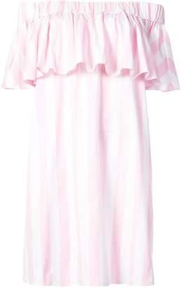 Maison Rabih Kayrouz striped off the shoulder dress