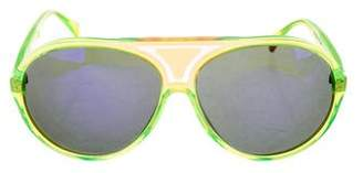 Christian Roth Neon Aviator Sunglasses