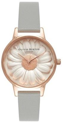 Women's Olivia Burton Flower Show Leather Strap Watch, 30Mm $195 thestylecure.com