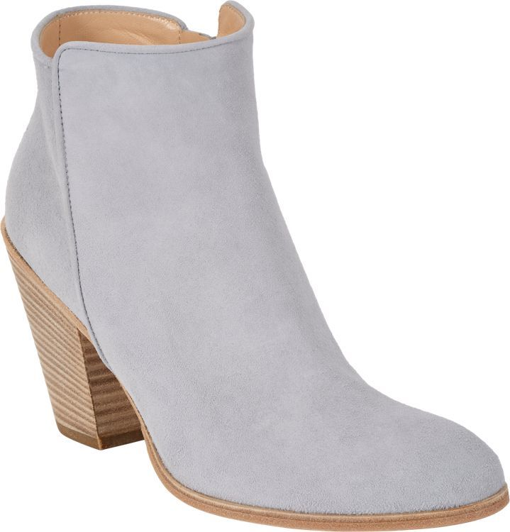 Barneys New York Daddy Point-Toe Ankle Boots-Grey