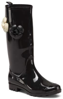 High Shaft Floral Rain Boots
