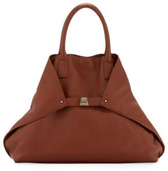 Akris Ai Medium Pebbled Grained Calf Leather Messenger Bag