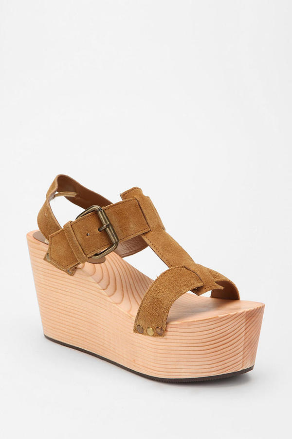 Urban Outfitters Ecote T-Strap Wedge