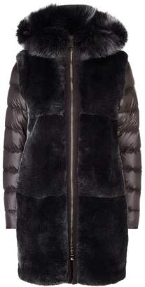 Herno Rabbit Fur Front Padded Coat