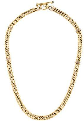 14K Curb Chain & Onyx Toggle Necklace