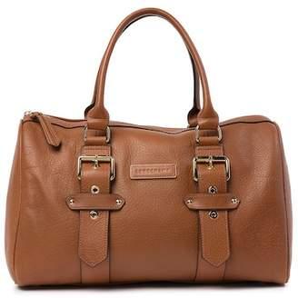 Longchamp Leather Medium Weekend Duffel Bag