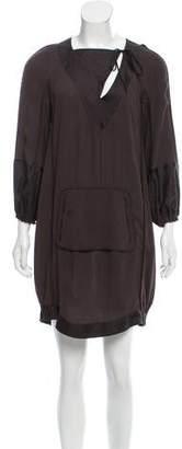 Derek Lam Long Sleeve Silk Dress