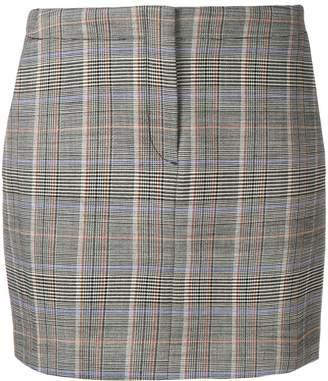 Theory plaid mini skirt