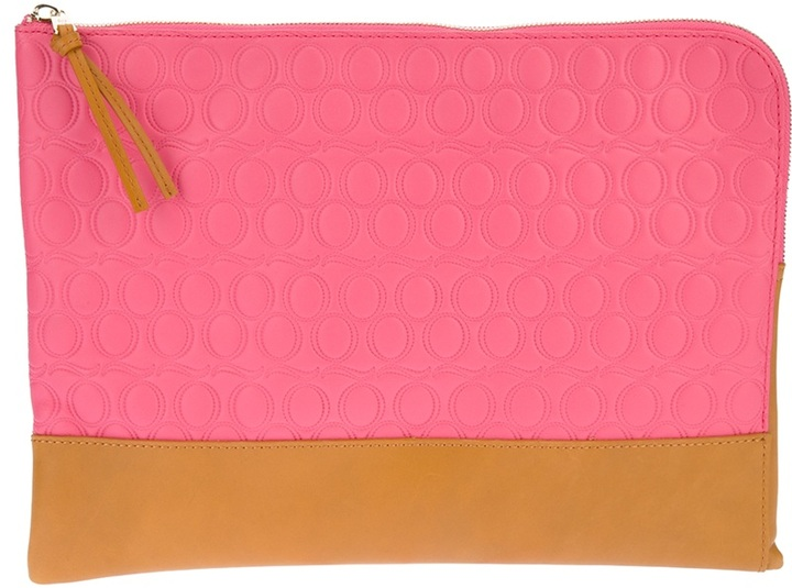 McQ by Alexander McQueen large embossed clutch