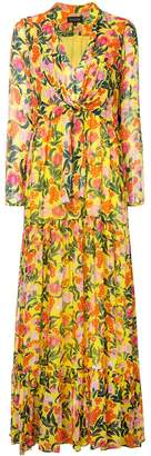 Saloni floral printed maxi dress
