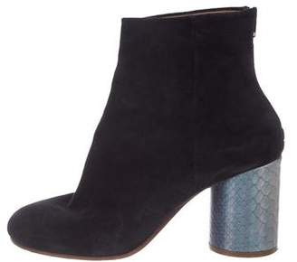 Maison Margiela High-Heel Round-Toe Ankle Booties