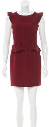 Sandro Ruffle-Accented Mini Dress $95 thestylecure.com