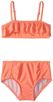 Seafolly Sweet Summer Frill Mini Tube Bikini Set Girl's Swimwear Sets