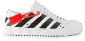 Off-White Diagonal Stripe Leather Sneakers
