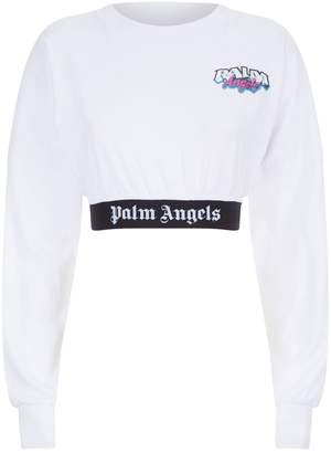 Palm Angels Cropped Logo T-Shirt