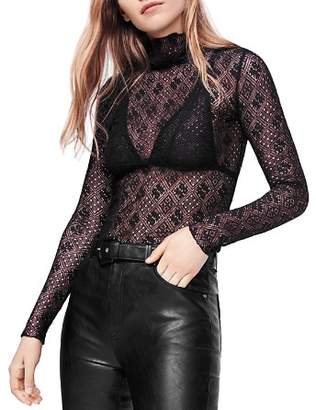 Free People Sweet Memories Sheer Lace Top