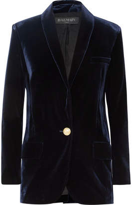 Balmain Velvet Blazer - Midnight blue