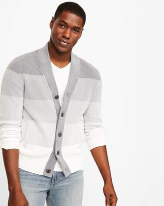 Express Garment Dye Shawl Collar Cardigan