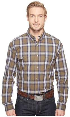 Roper 0554 Green River Plaid Button Men's Clothing