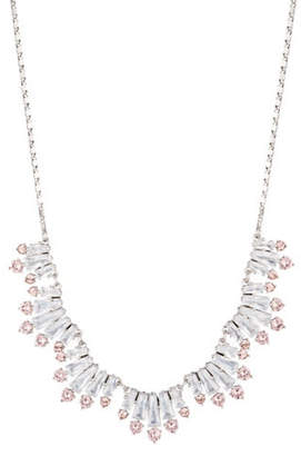 Carolee Blushing Bride Crystal Frontal Necklace