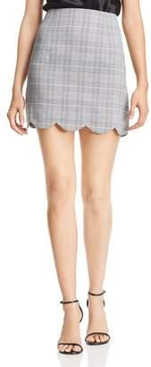 Aqua Scalloped Plaid Skirt - 100% Exclusive