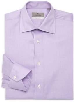 Canali Neat Solid Cotton Dress Shirt