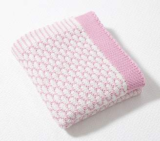Pottery Barn Kids Honeycomb Baby Blanket, Light Pink