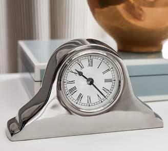 Pottery Barn Silver Bedside Clock