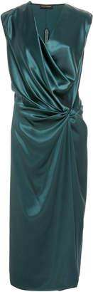 Narciso Rodriguez Bias Silk Tie Dress