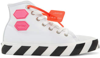 Off-White Off White White Vulcanized High-Top Sneakers