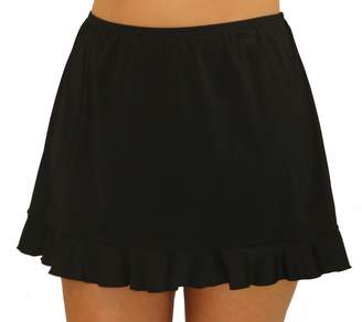 Fit 4 U Fit 4 Ur Hips Solid Skirt with Flounce - Plus