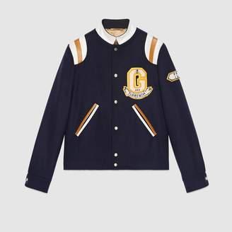 Gucci Felt coat with appliqués