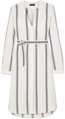 Rag & Bone Alyse Striped Cotton And Linen-blend Shirt Dress