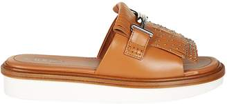 Tod's Tod`s Double T Fringed Sliders