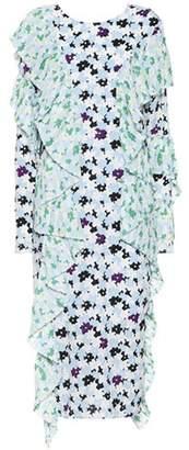 Kenzo Jackie Flowers crêpe dress