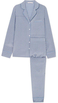Stella McCartney Poppy Snoozing Printed Stretch Silk-satin Pajama Set - Light blue