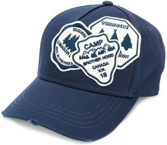 Aloha logo embroidered baseball cap - Blue Dsquared2 l0LMf7Ipz