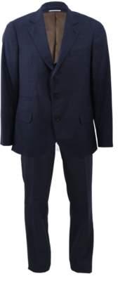 Brunello Cucinelli Wool Solid Notch Suit