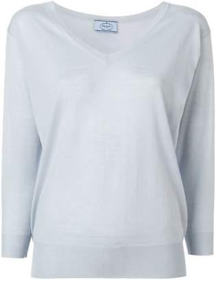 Prada fine v-neck sweater