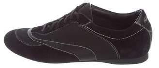 Salvatore Ferragamo Suede Lace-Up Sneakers