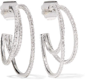 Kenneth Jay Lane Rhodium-plated Cubic Zirconia Earrings - Silver