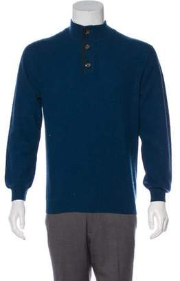Luciano Barbera Cashmere Henley Sweater